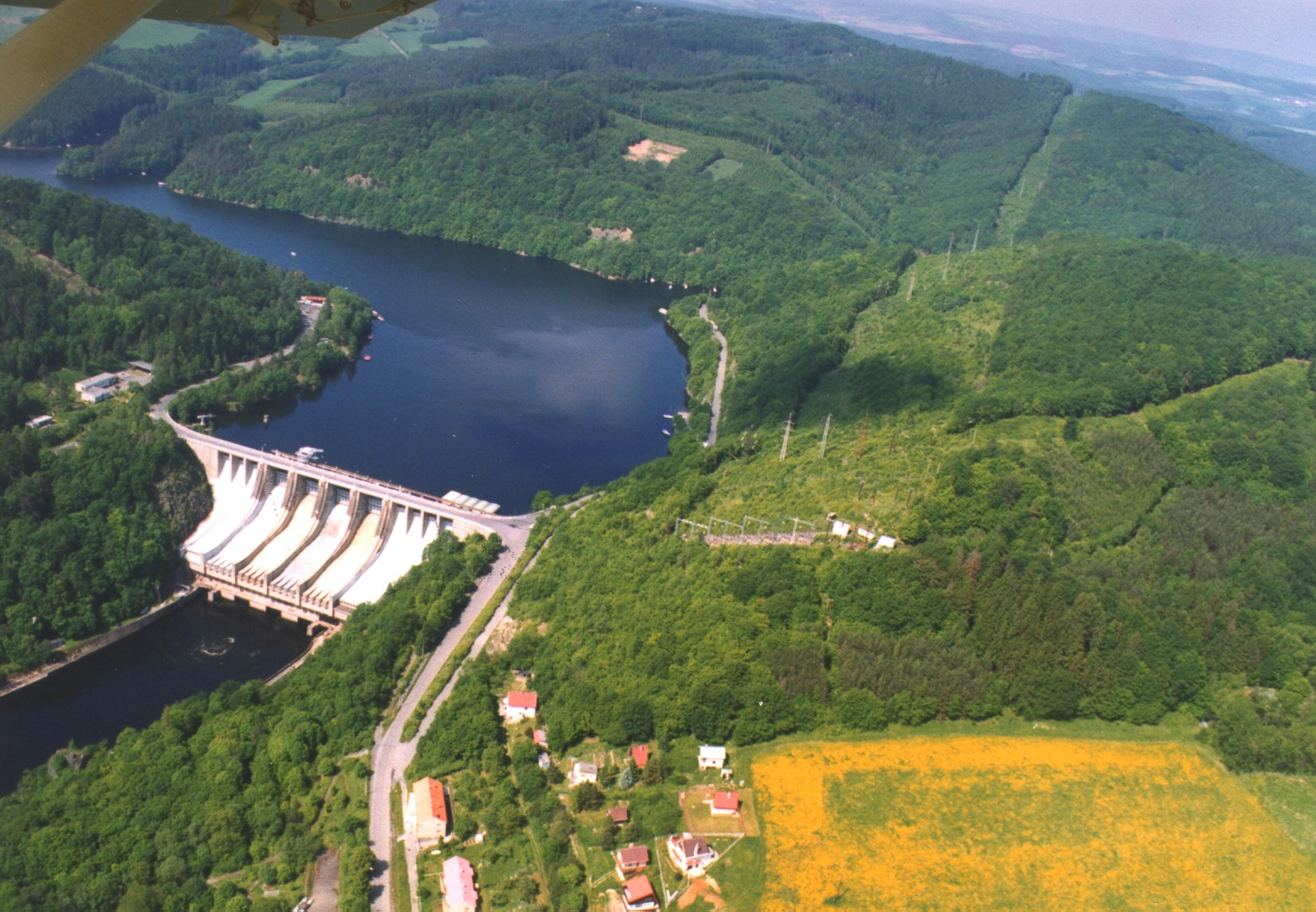 The Slapy Hydroelectric Power Station